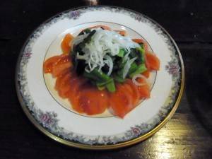 トマトと小松菜のサラダ1-300x225